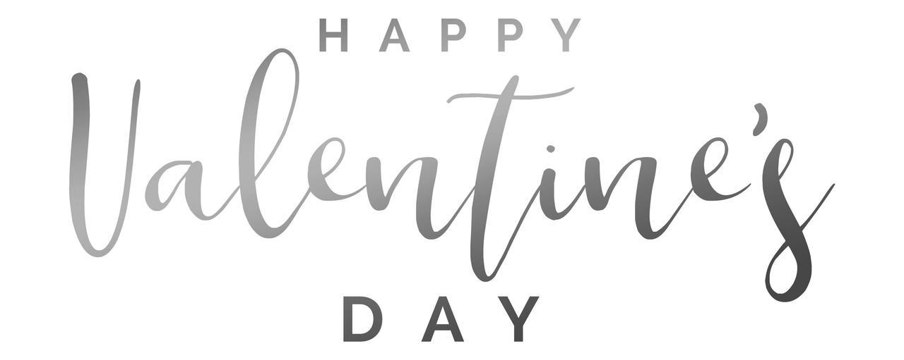 """Наклейка """"Happy Valentine's Day"""" (2) 18"""" дзеркальне срібло"""