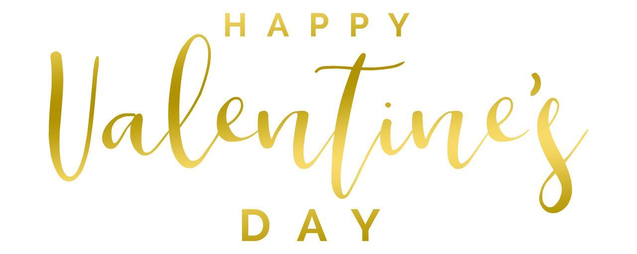 "Наклейка ""Happy Valentine's Day"" (2) 18"" золота"