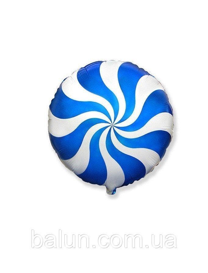 """Фольгована кулька """"Льодяник""""(синій) 18""""(45см)"""