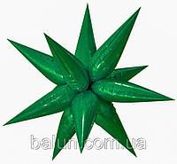 Зірка 3D (зелений) 100х100см