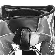 Боксерский шлем закрытый с прозрачной маской белый PU ZELART BO-1360, фото 3