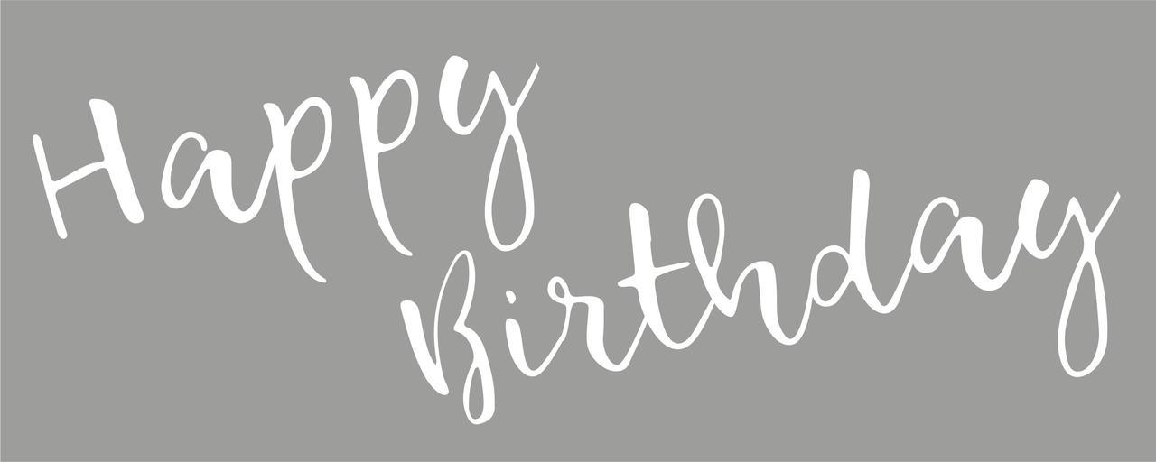 Наклейка Happy Birthday (1) біла