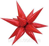 Зірка 3D (червоний) 100х100см