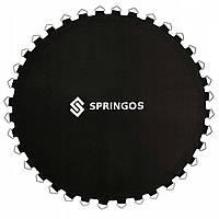 Стрибкове полотно (мат) для батута Springos 12FT 366 см (72 пружини) Black