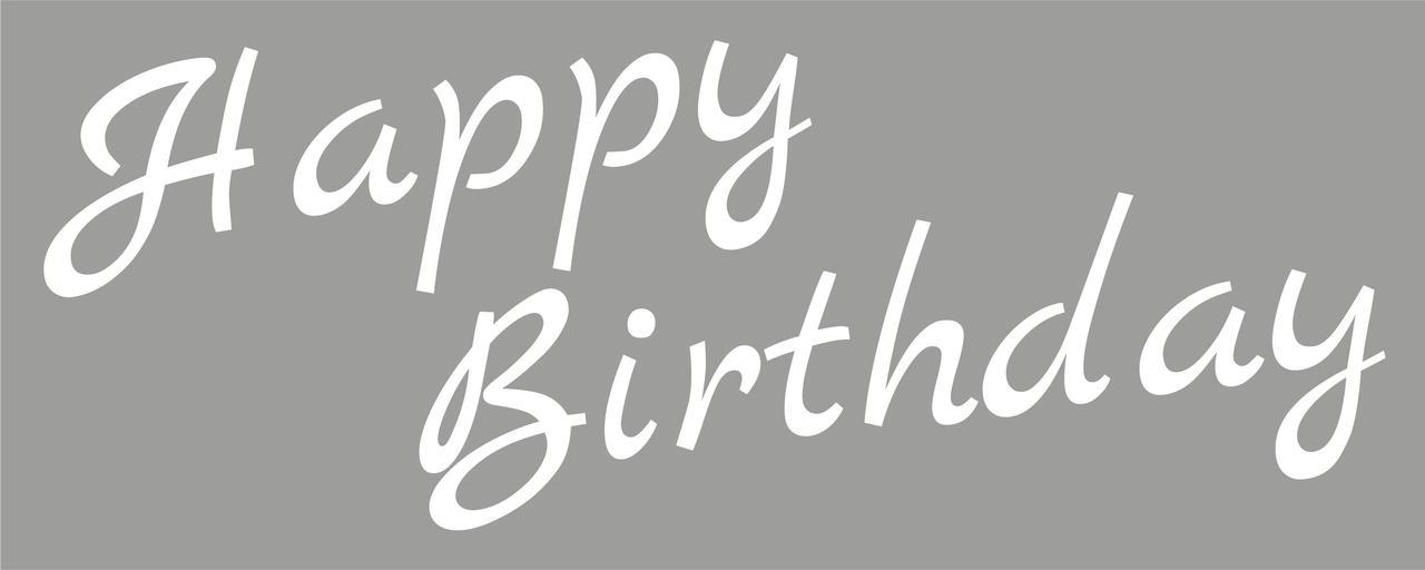 Наклейка Happy Birthday (3) біла