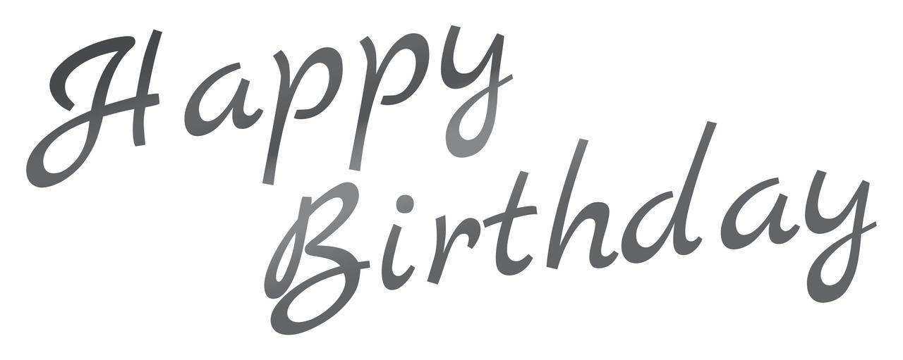 Наклейка Happy Birthday (3) дзеркальне срібло