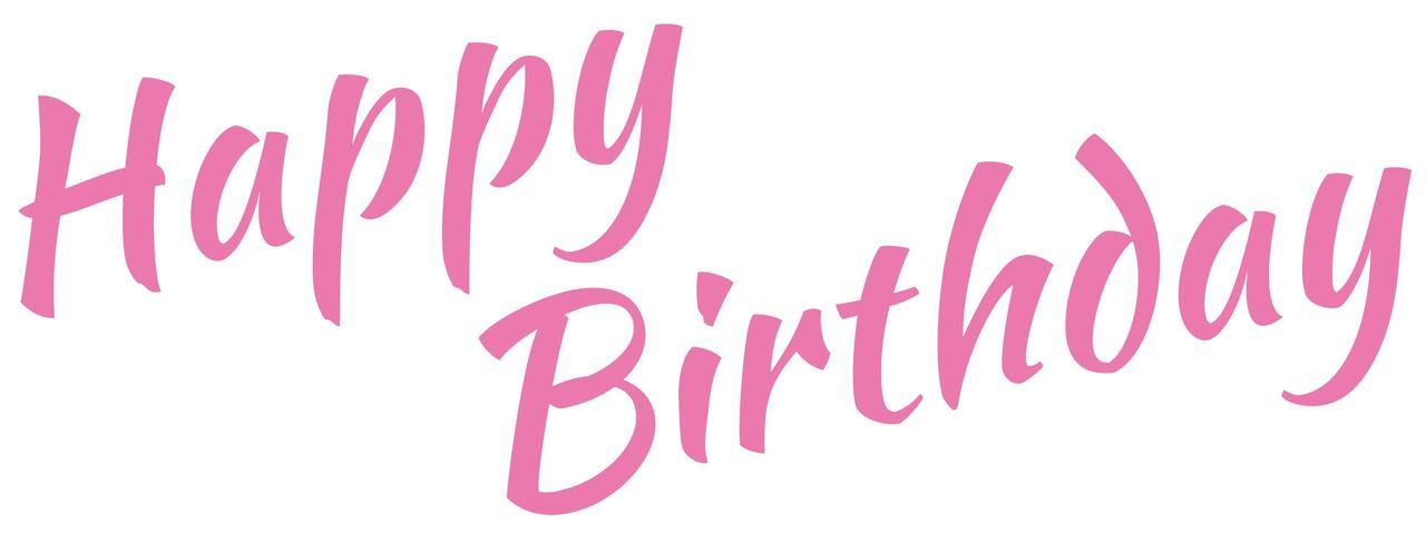 Наклейка Happy Birthday (5) рожева