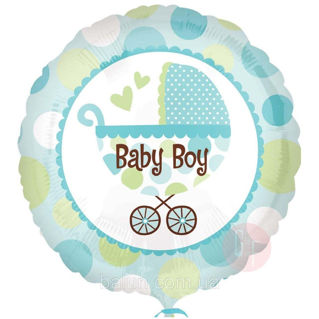 "Круг з каляскою ""Baby boy"" 18""(45см)"