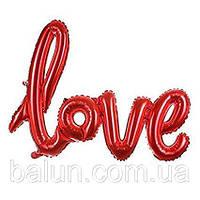 """Написи """" love """"(червоний) 89х60см"""