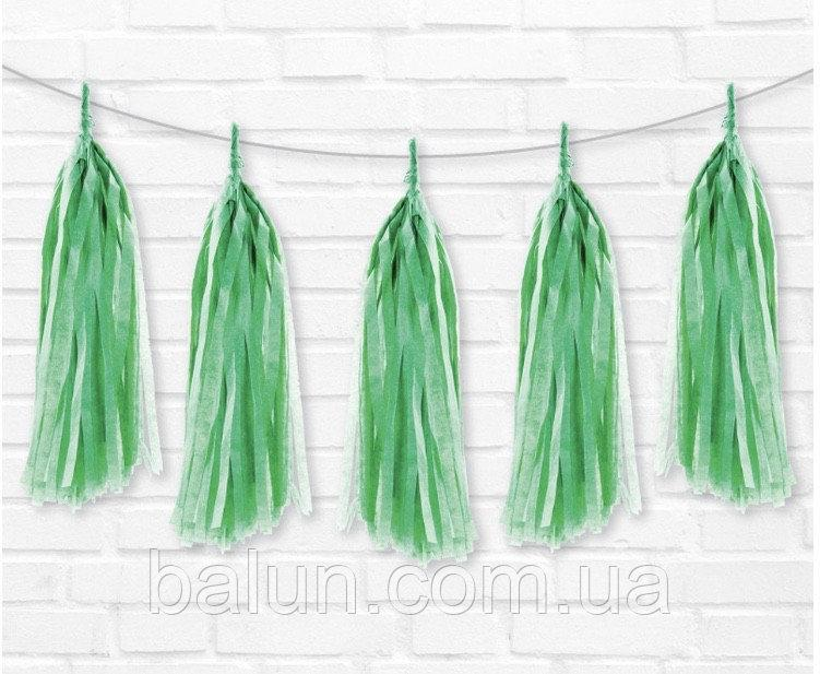 Паперовий тасел (зелений) 35см