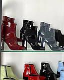 Женские замшевые ботильоны на каблуке демисезонные, фото 2