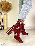 Женские замшевые ботильоны на каблуке демисезонные, фото 5