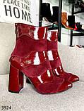 Женские замшевые ботильоны на каблуке демисезонные, фото 9
