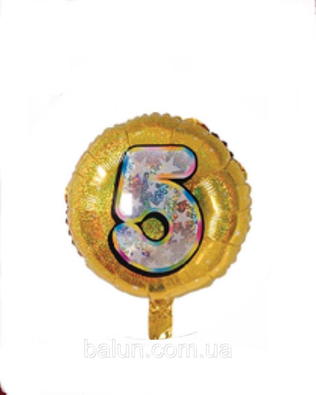 """Цифра """"5"""" Золота(Цифра """"5"""") 18""""(45см)"""