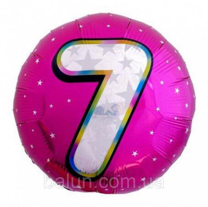 """Цифра """"7"""" Рожева(Цифра """"7"""") 18""""(45см)"""