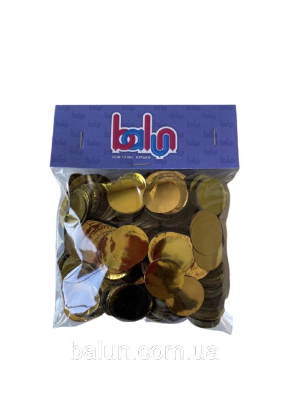 Конфеті золоте (кружечки) 50 грам