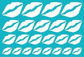 Наклейки Губы (2) білі