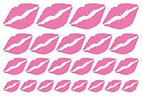Наклейки Губи (2) рожеві