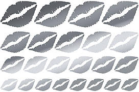 Наклейки Губы (2) срібло