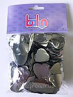 Конфеті срібло(сердечко) 50 грам