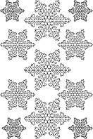 Наклейки Сніжинки білі
