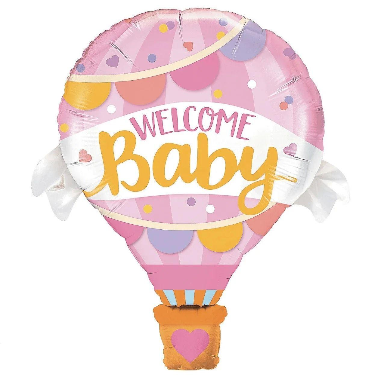 "Повітряна куля ""Welcome baby"" рожева (76х62см)"