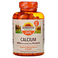 Кальций плюс витамин D3 Sundown Naturals, 1200 мг, 170 гелевых капсул