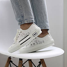 Женские кроссовки Dior Oblique B23 Low White
