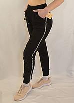 Брюки спортивные под манжет  Штаны спортивные с лампасами (Темно-синий, L), фото 3