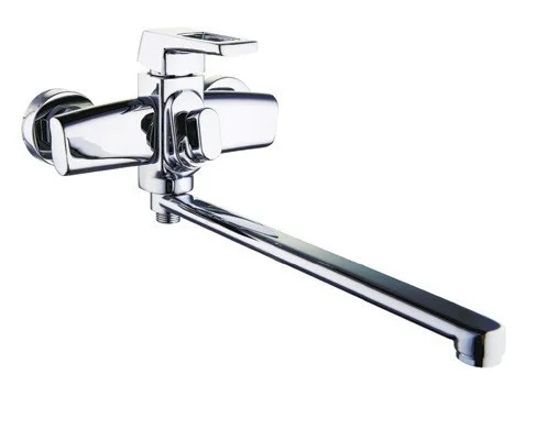 Смеситель для ванной с поворотным изливом ZEGOR NEF7-A232 с длинным гусаком