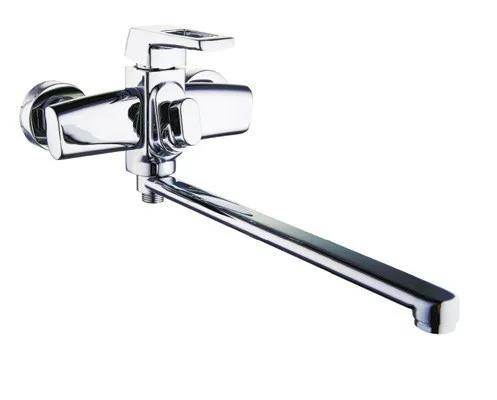 Смеситель для ванной с поворотным изливом ZEGOR NEF7-A232 с длинным гусаком, фото 2
