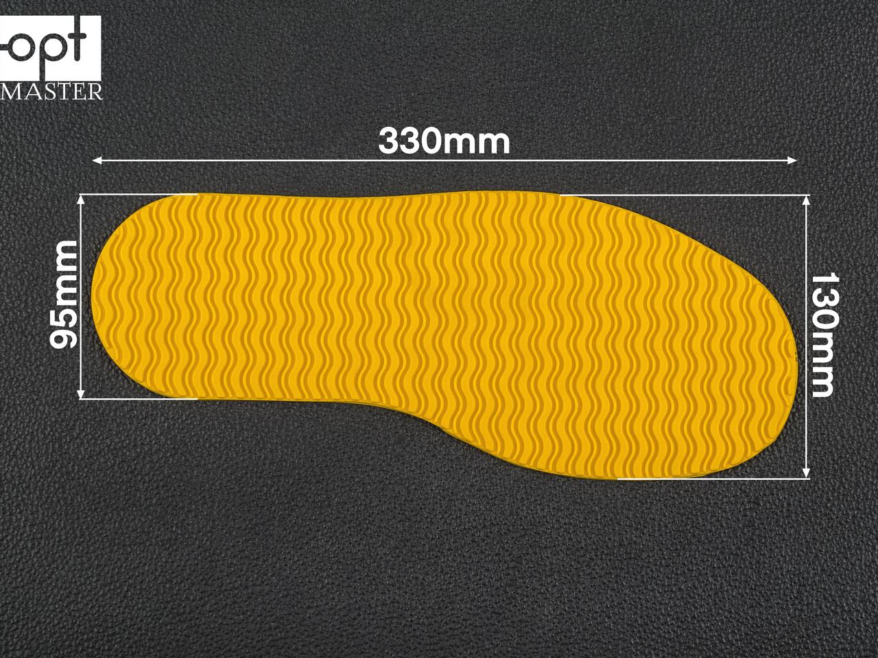 След подошвы обуви Favor, жёлтый art.106