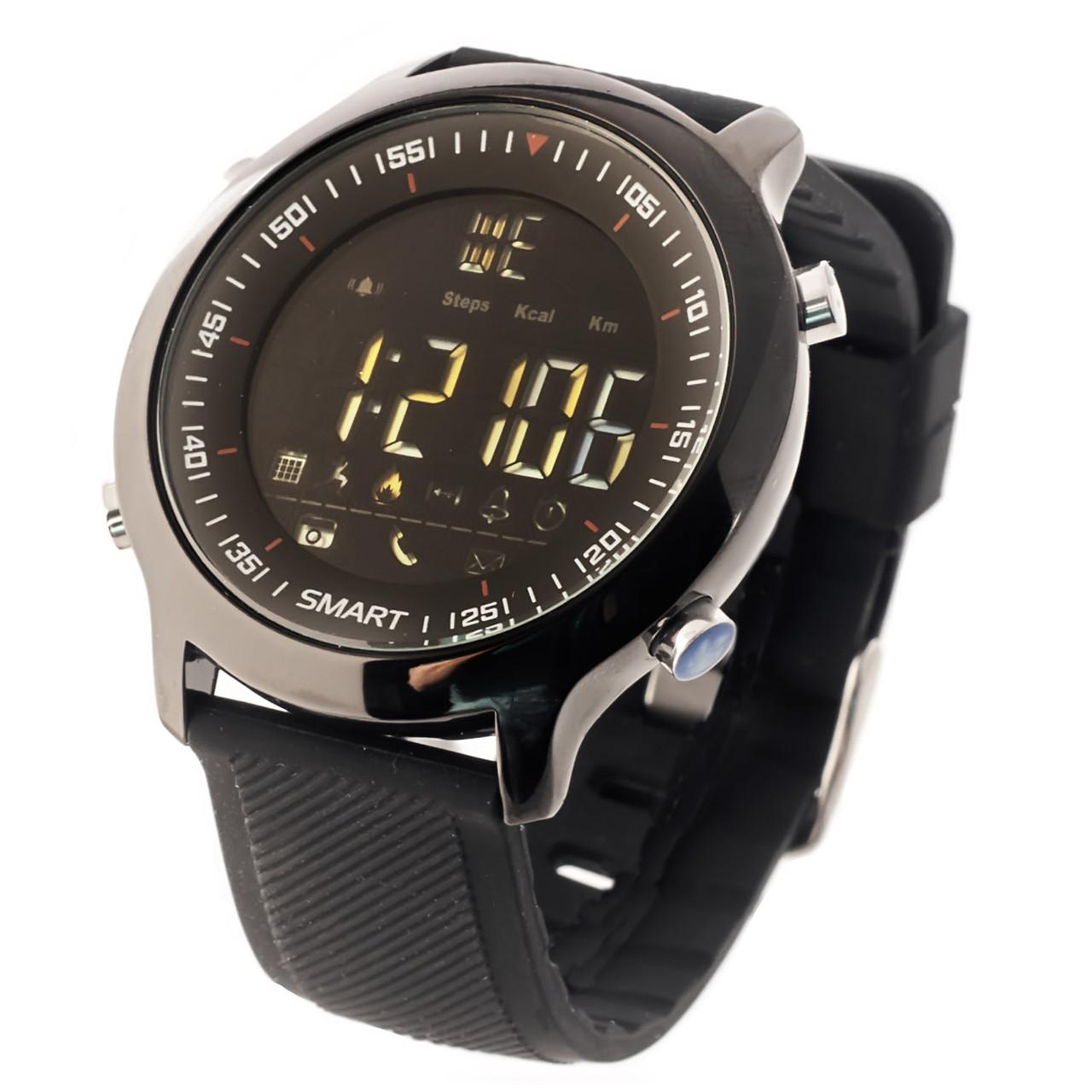 Смарт годинник Lokmat MK 18 чорні водонепроникні розумні годинник SmartWatch