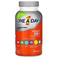 One-A-Day, Для женщин 50+, мультивитамины, польза для здоровья, 100 таблеток