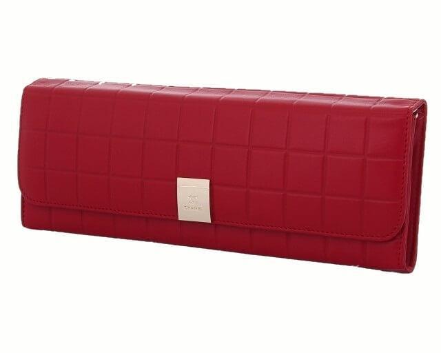 Chanel 1684-16 RED клатч, натуральна шкіра
