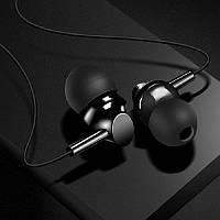 Проводные наушники для телефона гарнитура с микрофоном HOCO M14 стерео вакуумные спортивные черные