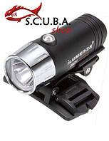 Фонарь для подводной охоты и дайвинга ILUMENOX S-SUN 1W (1 LED), c креплением на маску
