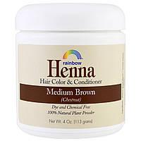 Хна, растительная краска для волос Rainbow Research, персидский средне-коричневый (каштановый), 113 г