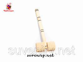 Массажер деревянный для спины с ручкой
