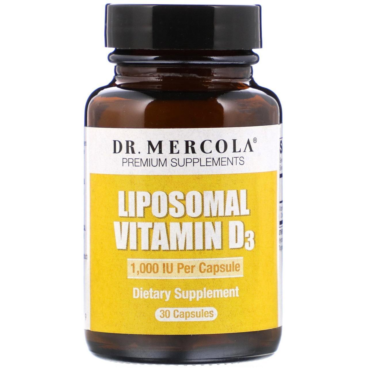 Липосомальный витамин D3 Dr. Mercola, 1 000 МЕ, 30 капсул