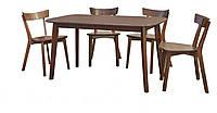 Стіл кухонний Форум-1370 + стільці Франко (1370*770*750Н)