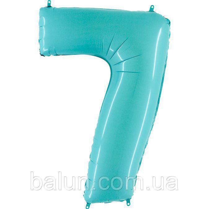 "Grabo  Г 40"" Цифра 7 голубая пастель Pastel Blue УП"