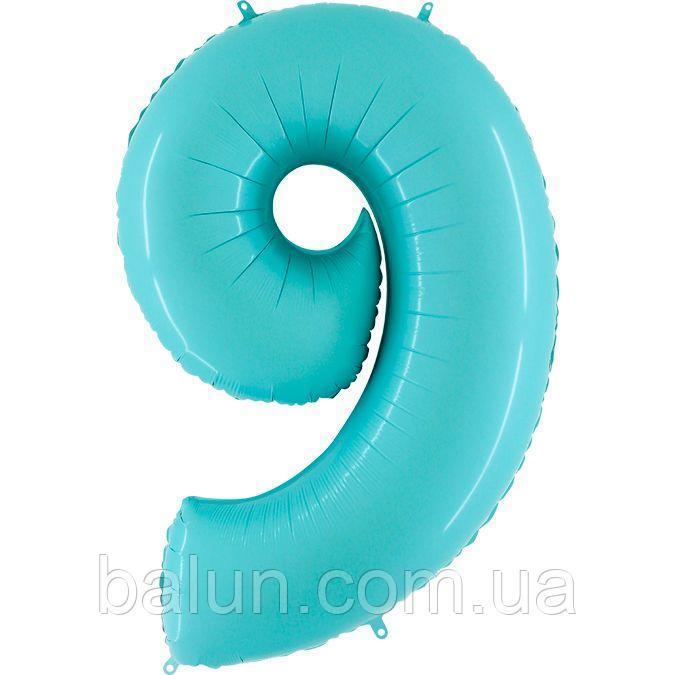 "Grabo Р 40"" Цифра 9 блакитна пастель Pastel Blue УП"
