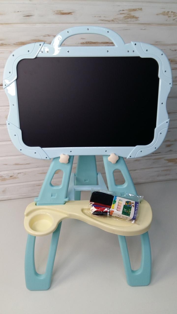 Детский мольберт для рисования голубой 679-А