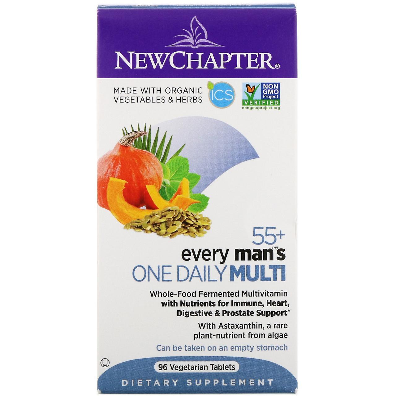 Мультивитаминный комплекс для мужчин старше 55 лет New Chapter, 96 вегетарианских таблеток