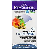 Мультивитаминный комплекс для мужчин старше 55 лет New Chapter, 96 вегетарианских таблеток, фото 1