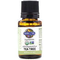 100% органічна очищене масло чайного дерева Garden of Life, 0.5 рідких унцій (15 мл)