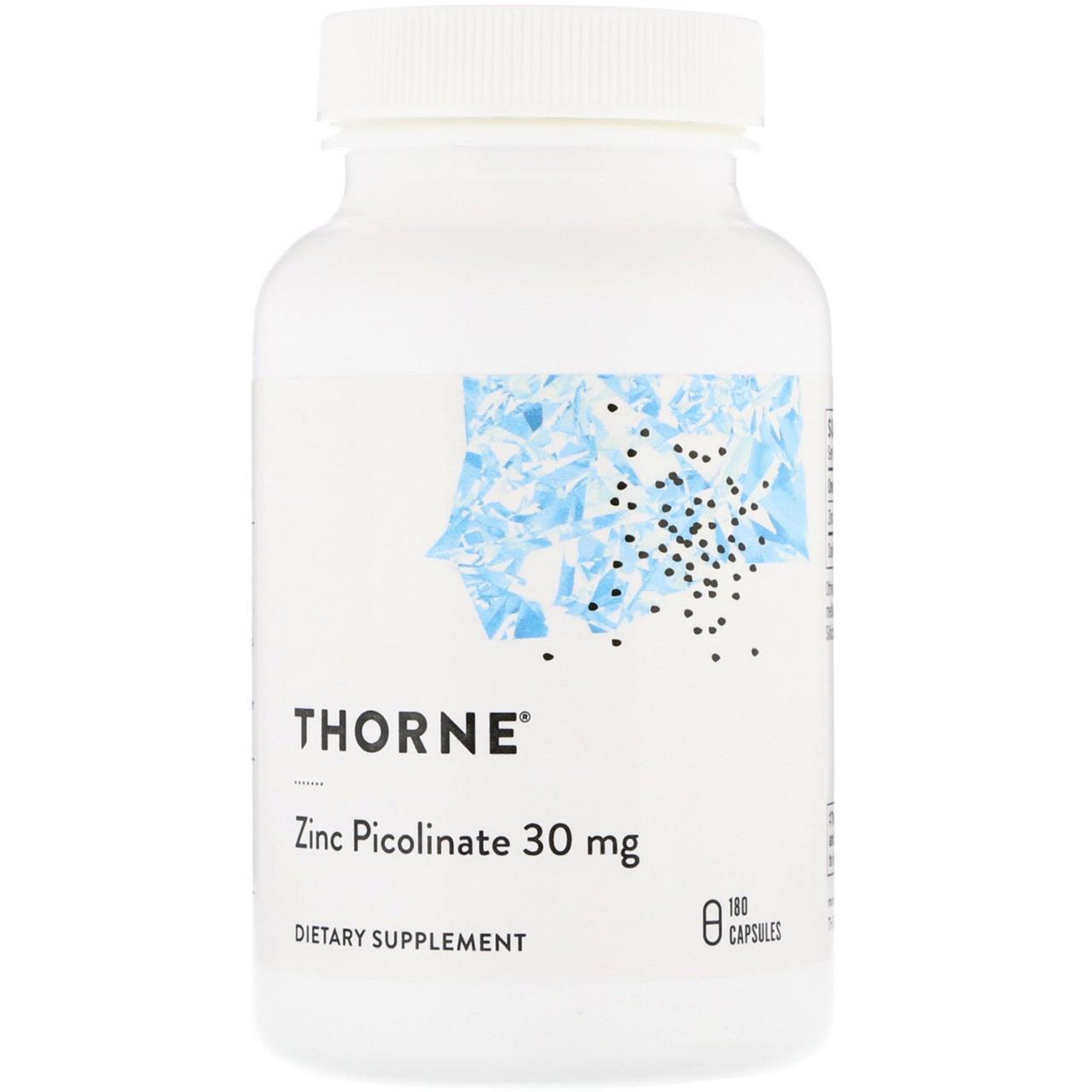 Пиколинат цинка Thorne Research, 30 мг, 180 капсул