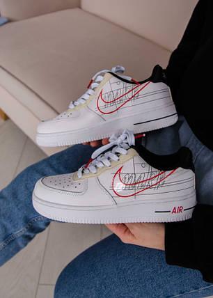 Nike Air Force 1 Low Script Swoosh White, фото 2