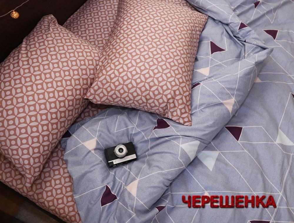 Двуспальный набор постельного белья 180*220 из Сатина №793656AB Черешенка™